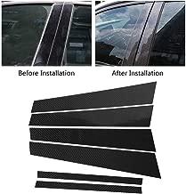 Carbon Fiber Car Window B-pillars Trim Cover Decorative Sticker for BMW 3 Series E46 1998-2006 Car Accessories