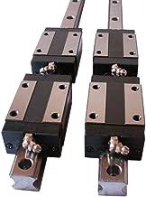 Hezukyp CNC Set 15-500mm 2X Linear Guideway Rail 4X Square Type Carriage Bearing Block
