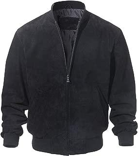 Men Classic Real Pigskin Coat Genuine Baseball Bomber Leather Jacket