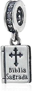 """Biblia Sagrada"" Charm 925 Sterling Silver Bead Fits European Brand Charms"