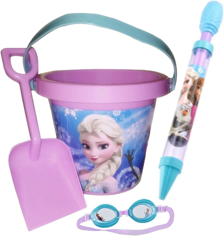 venta Frozen Frozen Frozen Summer Outdoor Juguetes Bundle of 3 - Swim Googles, Water Squirter, Shovel and Pail Set by Disney  barato y de alta calidad
