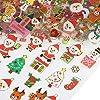 NALER 10枚 クリスマス 飾り サンタクロース 雪だるま トナカイ ごほうびシール クリスマスプレゼント子供向け