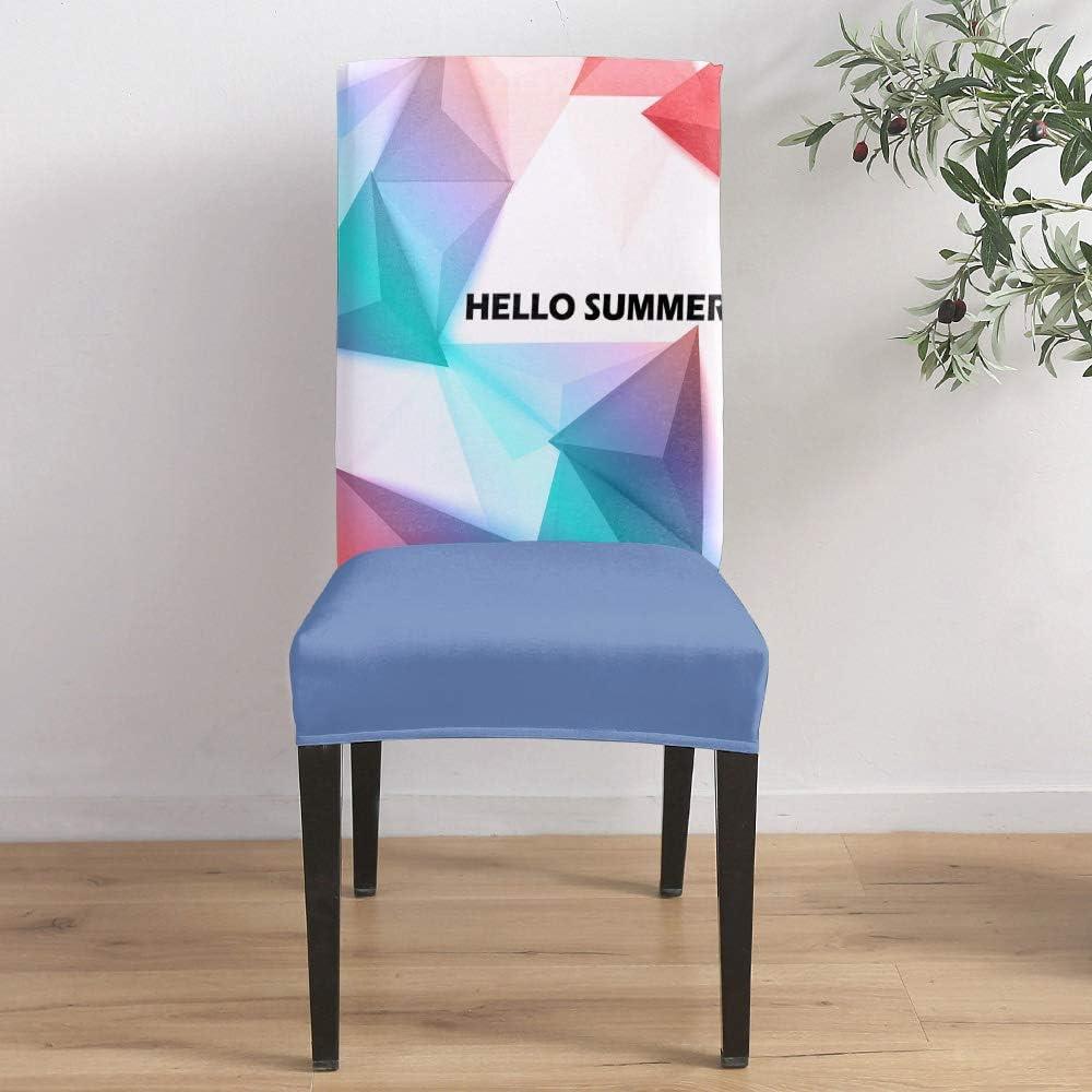 Dining Room Stretch Chair Cover Slipcover Patt Over item handling Geometric half Pyramid