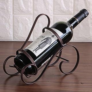 ZLJ Casier à vin en Fil métallique Support de Bouteille Unique Support Porte-Bouteille créatif sur Pied comptoir présentoi...