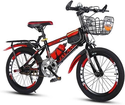 Kinderfürr r fürrad mit Variabler Geschwindigkeit Jungenmädchenfürrad Studentenmountainbike Rennrad, Rahmen aus Kohlenstoffstahl (Farbe   rot(Single Speed), Größe   20inches)