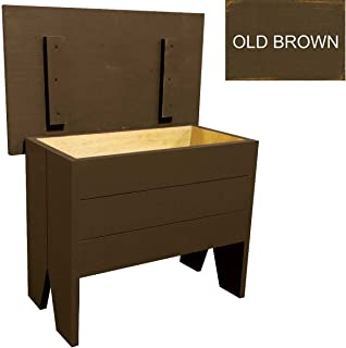 Sawdust City Wood Storage Bench 2' Long (Old Brown)