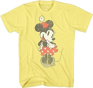 Disney Minnie Mouse Shirt Vintage Shy Graphic Men's Adult T-Shirt