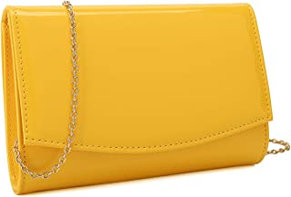 Charming Tailor womens 18CT066PATENT Patent Flap Clutch