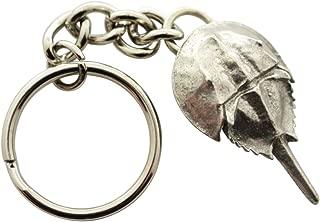 Sarah's Treats & Treasures Horseshoe Crab Keychain ~ Antiqued Pewter ~ Keychain