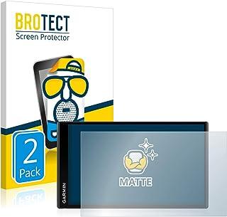 BROTECT 2x Antireflecterende Beschermfolie compatibel met Garmin DriveSmart 65 Anti-Glare Screen Protector, Mat, Ontspiege...