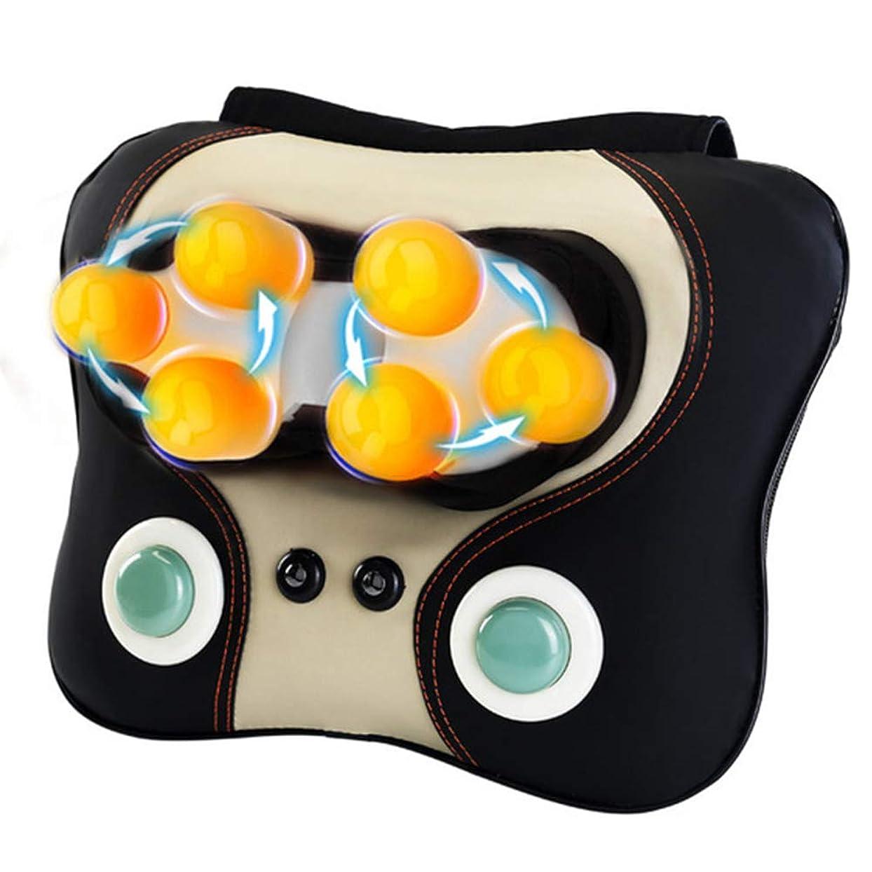 オピエート順番仕える頸部マッサージ - 混練ノッキング電動マッサージ枕 - 多機能暖房家庭用首と肩のマッサージクッション - 高齢者や座りがちな人に最適