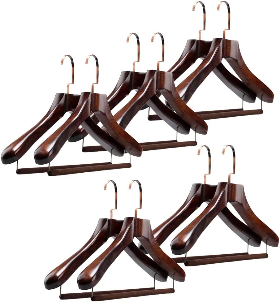 Phoenix Mall Natural Wooden Suit Brand Cheap Sale Venue Hangers Woo Sturdy Contoured