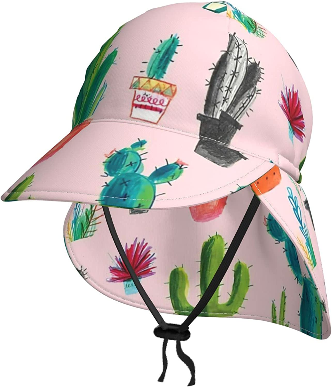 Cacti Cactus Kids Sun Hat Ranking TOP4 with Limited time cheap sale B Protection Flap Neck Uv Toddler