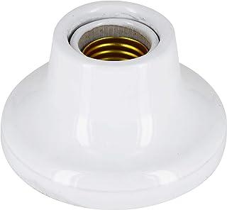 Lámpara empotrada de cerámica dura de porcelana E27, esmalte blanco, máx. 1000 W