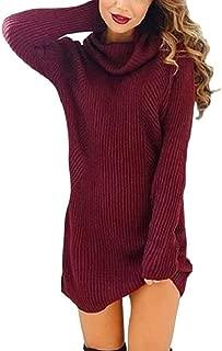Godoboo Maglione per Donne Rotondo Collo Colore Striscia Vestiti per Donne Accostare Pullover