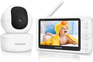 """Baby Monitor, 1080P 5"""" HD Display Video Baby Monitor with Camera and Audio, 3600 mAh Battery, 300m Range, VOX Mode and Tw..."""