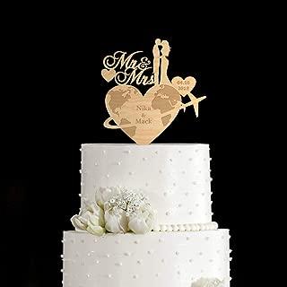 Travel cake topperTravel wedding cake toppertravel weddingwedding cake topper traveltravel theme weddingcake toppers for wedding