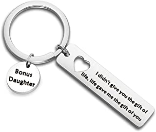 Stepdaughter Gifts Daughter in Law Keychain I Didn't Give You The Gift of Life Life Gave Me The Gift of You Stepson Keychain Stepmom Gifts