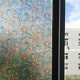 Película de Vidrio autoadhesiva electrostática película de privacidad Opaca esmerilada película de decoración de Vidrio para Puertas y Ventanas de casa O 50x200cm
