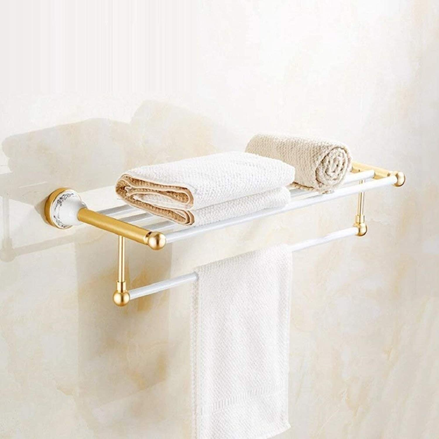 European Style Retro Dry-Towels Double - Robust and Ease of Inssizetion of The Cabinet - a Bathroom in Aluminum Alloy of Hair-Towels,