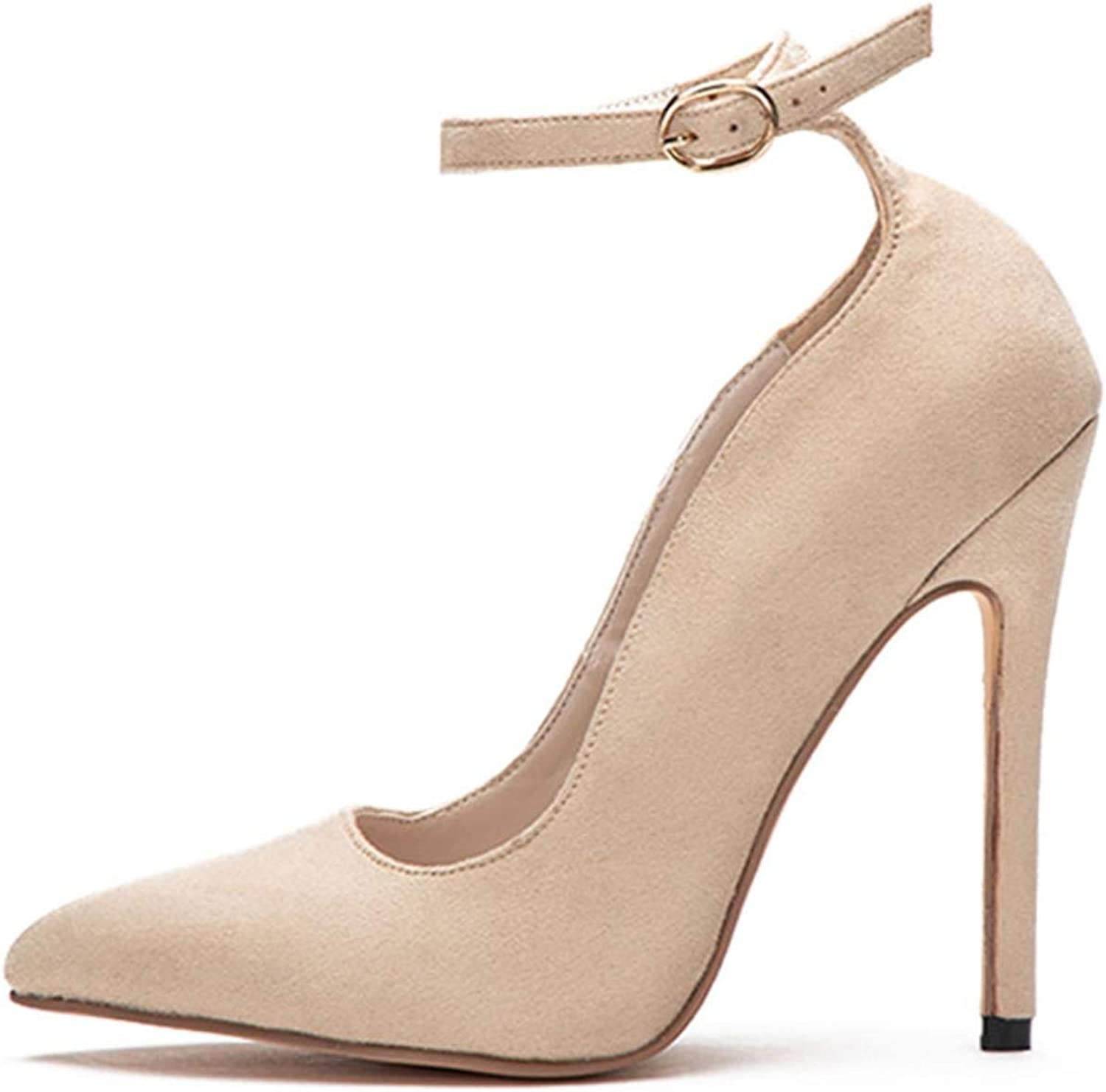 Women's shallow pointed high heels