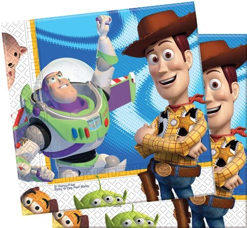 Luncheon Napkins 2 Ply Licensed Toy Story 3 For Disposable Party