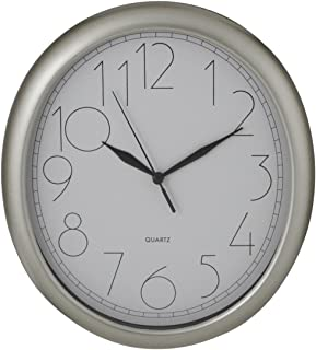 ITC (32040-NI-DB Oval Wall Clock with White Face
