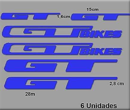 Ecoshirt VW-7NPR-ZS69 Pegatinas GT Bikes R70 Stickers Aufkleber Decals Autocollants Adesivi, Azul