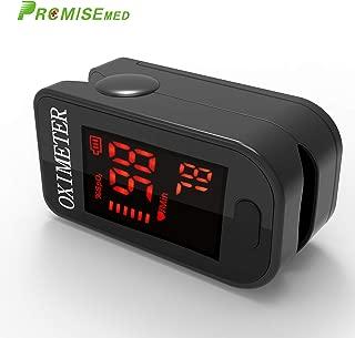 Oxímetro de sangre, Oxímetro de pulso para dedo - PRCMISEMED Pro Series F4 Oxímetro de pulso para dedo Oxímetro de oxígeno para sangre con cordón