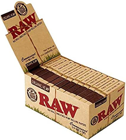 TIPS 1x Full Box Raw Classic Natural Unrefined Rolling Papers