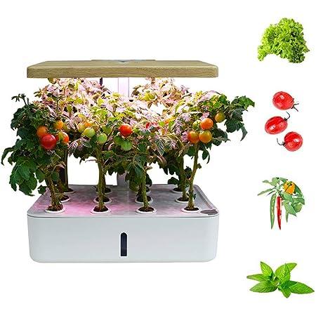 FDYD La hidroponía Cubierta Inteligente jardín hidropónico Jardín, Iluminación LED automática del Temporizador automático Hidroponía jardinería de Interior Inicio Kit