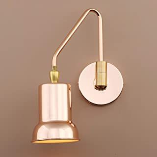 Pathson Copper Wall Sconce, Adjustable Wall Light Fixtures, Hardwired Swing Arm Wall Lamp for Bedside Lighting, Industrial Vintage Style for E26 Bulbs (Copper)