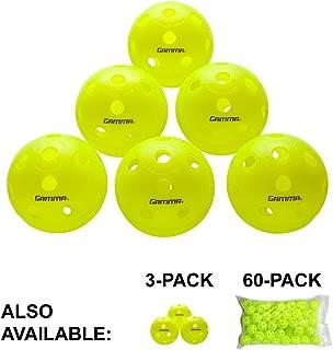 Gamma Sports Photon Outdoor Pickleballs, High-Vis Optic Green USAPA Approved Pickleball Balls