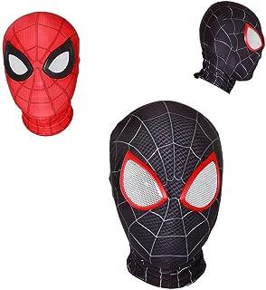 Cosplay Movie Super Hero Spider Homecoming Zipper Mask Full Headgear Man Eyes Head Helmet Halloween Party Props