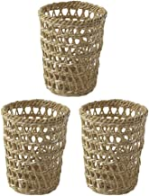 FAVOMOTO 3pcs Coffee Cup Sleeve Straw Woven Cup Cover Holders Reusable Drinks Insulator Table Pen Pencil Holder for Cold H...