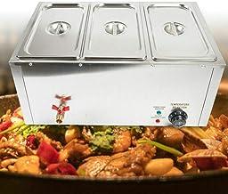 SHZICMY Lot de 3 poêles de 7 L en acier inoxydable - Chauffe-plats - Bain Marie - Chauffe-plats électrique - Chauffe-plat ...