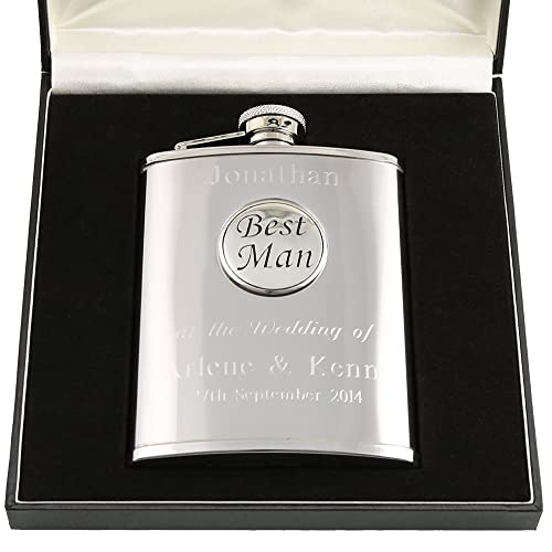 London hip flask silver aluminium birthday keepsake gift