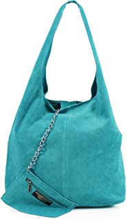 Ladies Womens Vera Pelle Real Leather Hobo Shoulder Bag