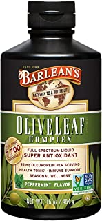 Barlean's Peppermint Olive Leaf Complex with 7,700 ORAC and 95mg Oleuropein –..