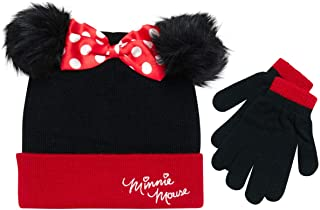 Disney Girls Minnie Mouse Winter Hat and Mitten or Glove Set (Toddler/Little Girls)