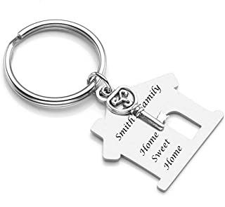 house keychain engraved