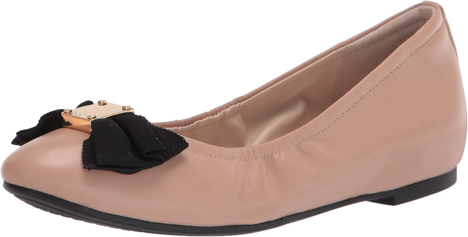 Cole Nippon regular agency Haan Women's 2021 autumn and winter new Tali Bow Ballet Soft Flat