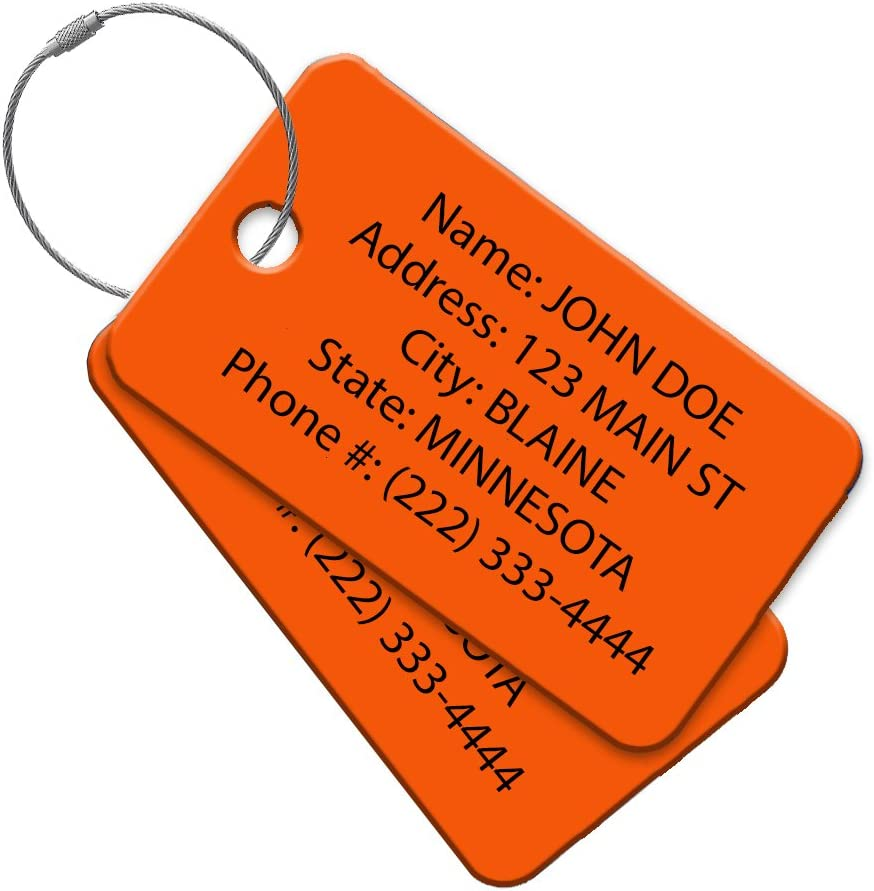 New Austin Mall item High Visibility Multi Pack Customized Travel - ID Ta Luggage Tag