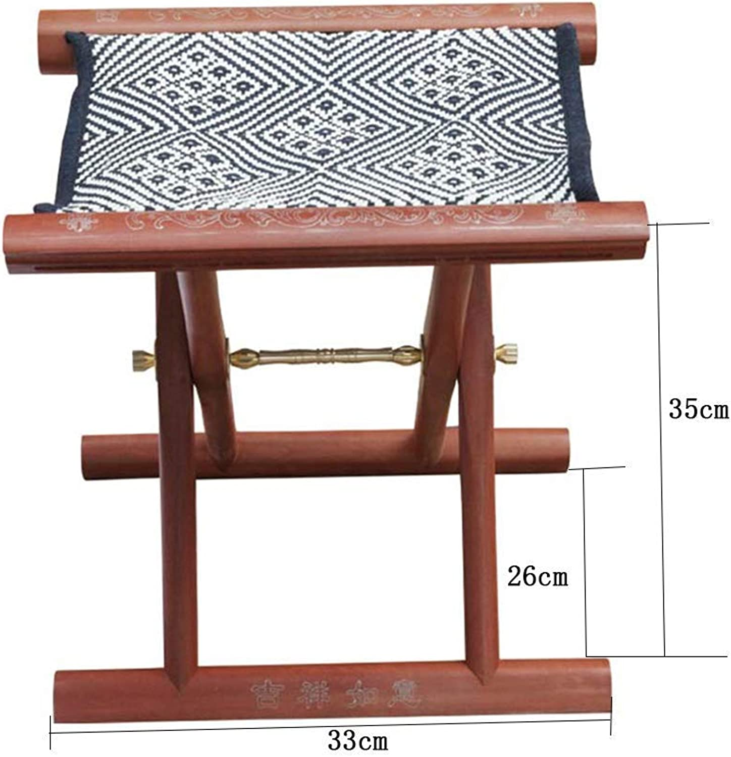 JZX Multifunctional Pony Foldable Creative Solid Wood Fishing Stool, Home Chair, Multi-Function Household Stool