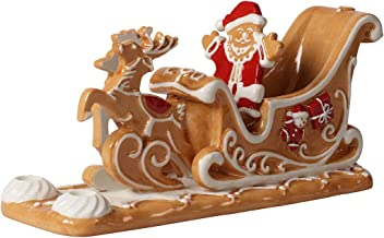 Villeroy & Boch Winter Bakery Gingerbread Sleigh, Decorative Candle Holder Maoffrom Hard-Paste Porcelain and Shaped Like T...