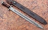 Custom Hand Forged Damascus Steel Swiss Dagger/Sword/GLADIOUS Sword Gladiator Blood GROOVED Sword