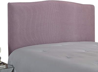 WINS Housse de Protection de tête de lit Extensible Housse pour tête de lit Anti-poussière Solide Couvre de tête de lit Décoration Chambre Violet Clair