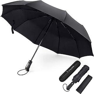 FYLINA Paraguas Plegable Automático Paraguas Impermeable de Viaje con 9 Varillas Reforzadas y Forro de Secado Rápido 210T ...