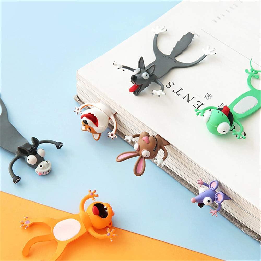 Ocean Series Nette Lesezeichen cat Verr/ücktes Lesezeichen Palz f/ür Kinder Frauen M/änner Cartoon Animal Style PVC 3D Squashed Lesezeichen