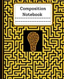 Composition Notebook: wide ruled maze pattern College Ruled Composition Notebook 120 Pages Cute Adorable Soft Large Beautiful Writing Journal for ... Workbook for Teens Adults Boys or Girls
